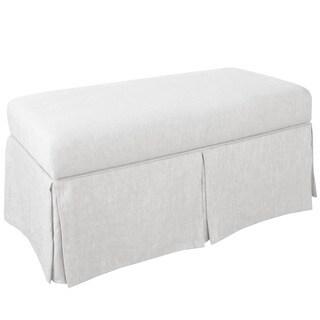 Skyline Furniture Skyline Twill White Skirted Storage Bench
