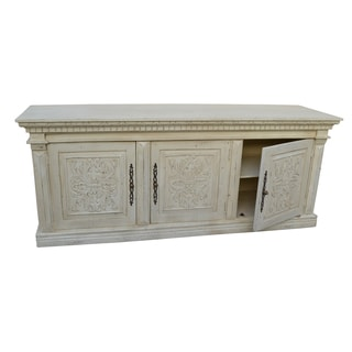 Isa White Washed 3-door Cabinet