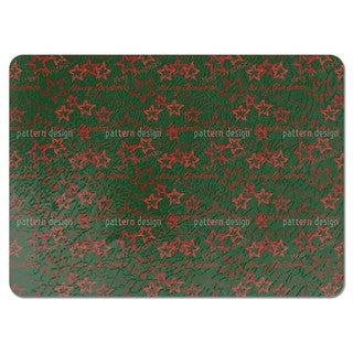 Merry Christmas Green Placemats (Set of 4)