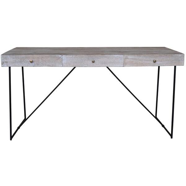 Shop watson narrow grey wood drawer console table free