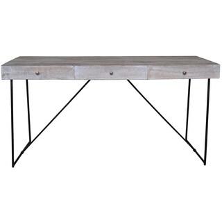 Watson Narrow Grey Wood 3-Drawer Console Table