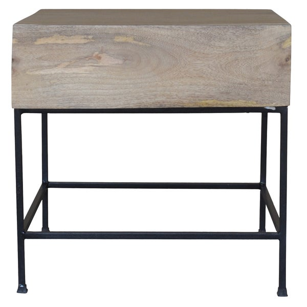 Shop Watson Wood And Iron Rectangular Side Table With