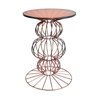 Orianne Spherical Copper Side Table