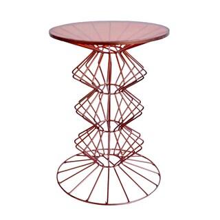 Orianne Ornate Copper Side Table