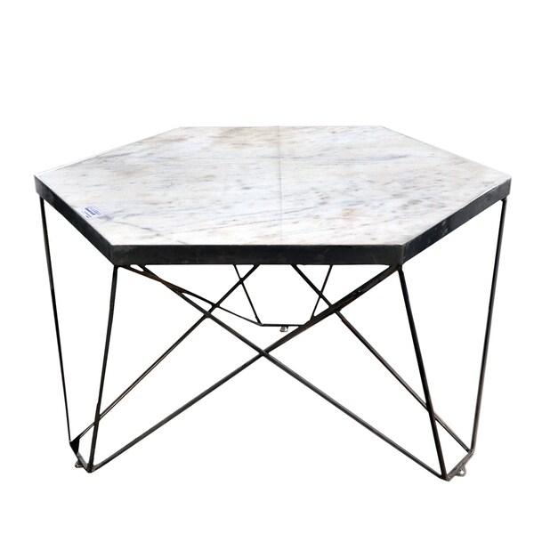 Shop Hexagon Marble Coffee Table