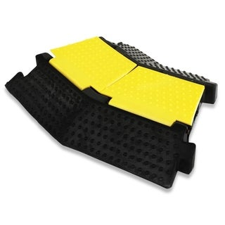 Pyle Left-Turn Cable Protective Cover Ramp with Cord and Wire Concealment Protection Track