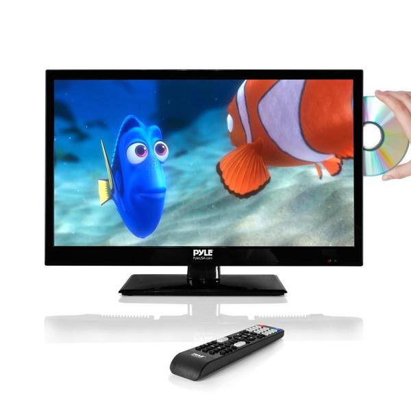 pyle ptvdled22 21 5 inch led hd flatscreen tv with built in cd dvd player free shipping today. Black Bedroom Furniture Sets. Home Design Ideas