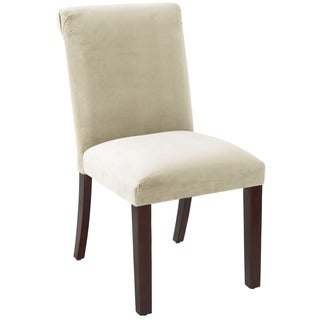 Skyline Furniture Regal Antique White Rolled Back Dining Chair