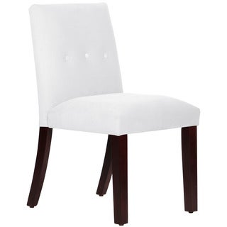 Skyline Furniture Tapered Dining Chair with Buttons in Velvet White