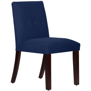 Skyline Furniture Velvet Navy Tapered Dining Chair with Buttons