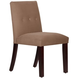 Skyline Furniture Velvet Cocoa Tapered Dining Chair with Buttons