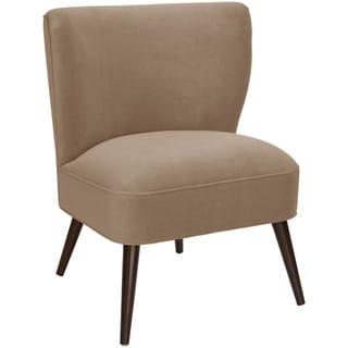 Skyline Furniture Velvet Cocoa Curved Armless Chair