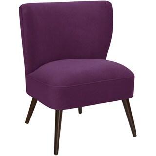 Skyline Furniture Velvet Aubergine Curved Armless Chair