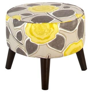 Skyline Furniture Beale Garden Citrine Round Ottoman with Splayed Legs
