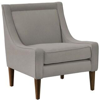 Skyline Furniture Skyline Linen Grey Mid Century Swoop Arm Chair