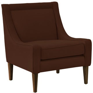 Skyline Furniture Skyline Linen Chocolate Mid Century Swoop Arm Chair