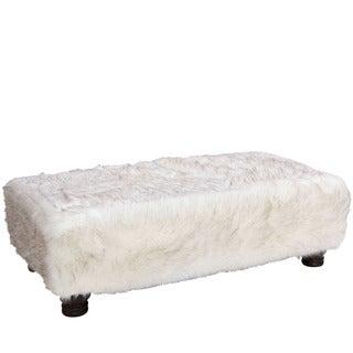 Skyline Furniture Br Fox White Rectangle Ottoman