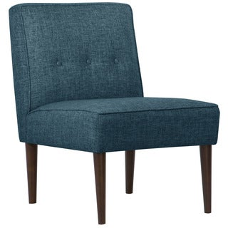 Skyline Furniture Zuma Navy Three Button Armless Chair