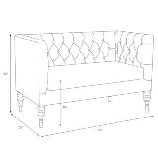 Skyline Furniture Skyline Regal Mahogany Rose Tufted Settee - N/A (Mahogany Rose)