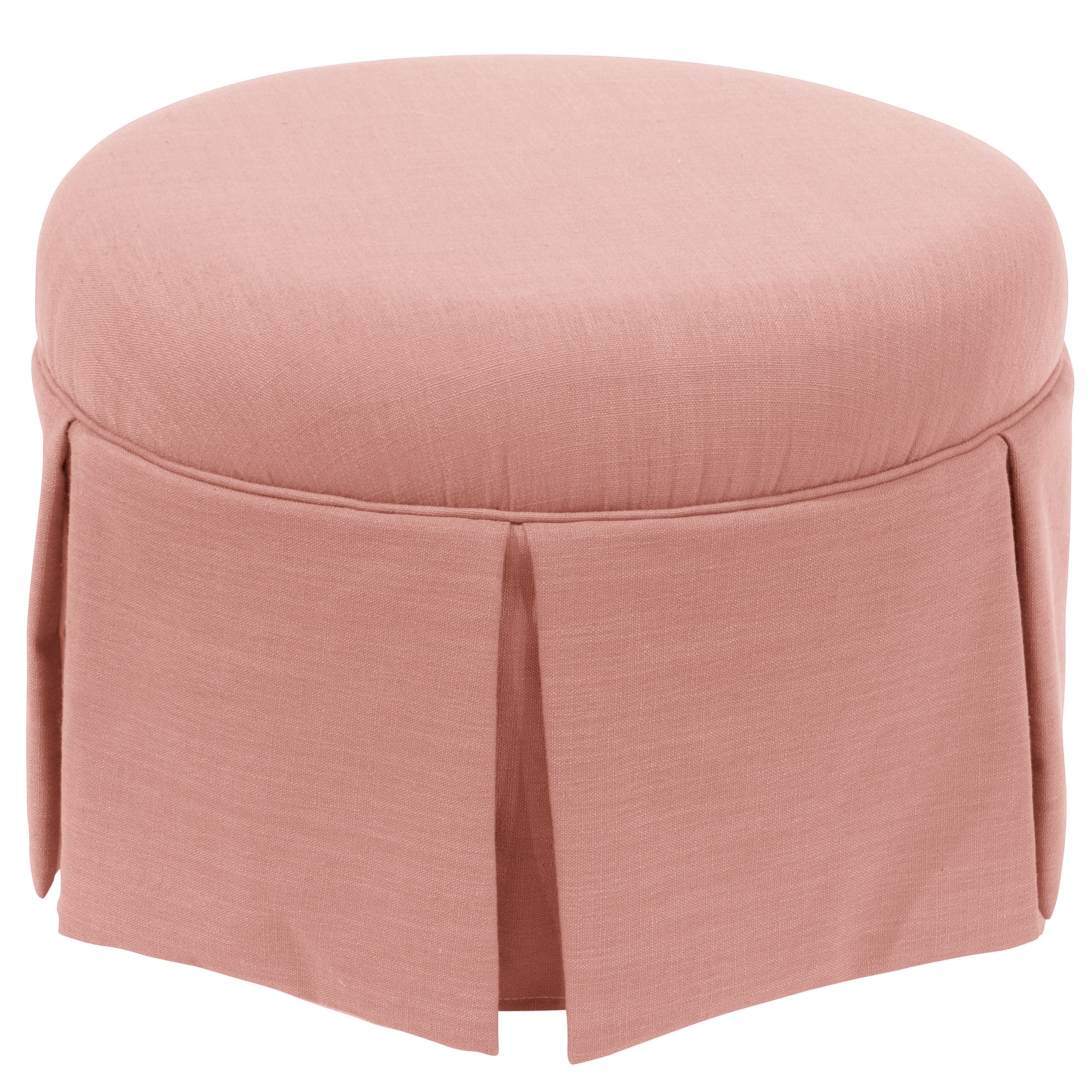 Enjoyable Details About Skyline Furniture Skyline Linen Petal Round Skirted Ottoman Pink Medium Squirreltailoven Fun Painted Chair Ideas Images Squirreltailovenorg