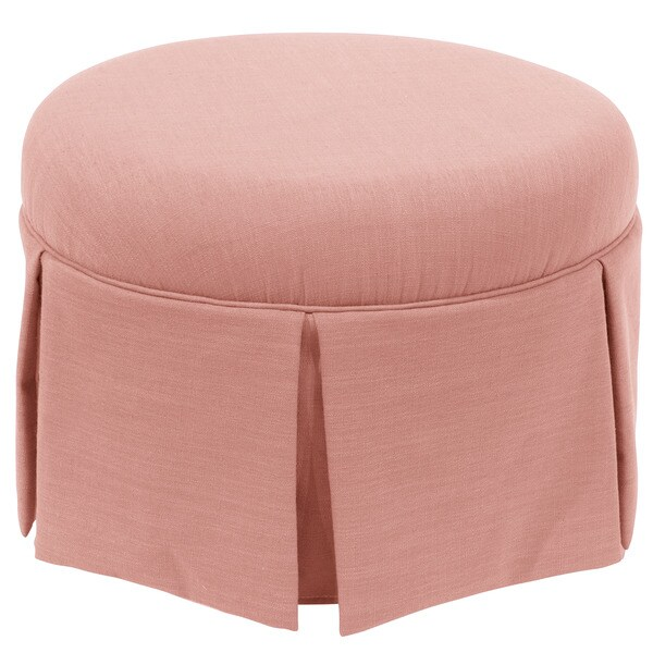 Shop Skyline Furniture Skyline Linen Petal Round Skirted Ottoman ...