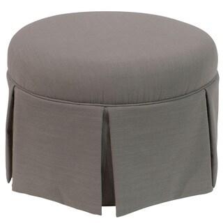 Skyline Furniture Skyline Linen Grey Round Skirted Ottoman