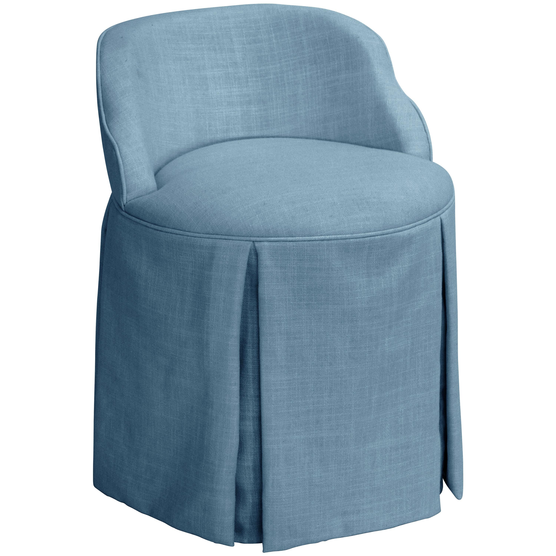 Skyline Skyline Linen Denim Vanity Chair (Denim), Blue (F...