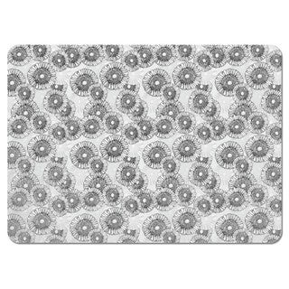Sun Flowers Grey Placemats (Set of 4)