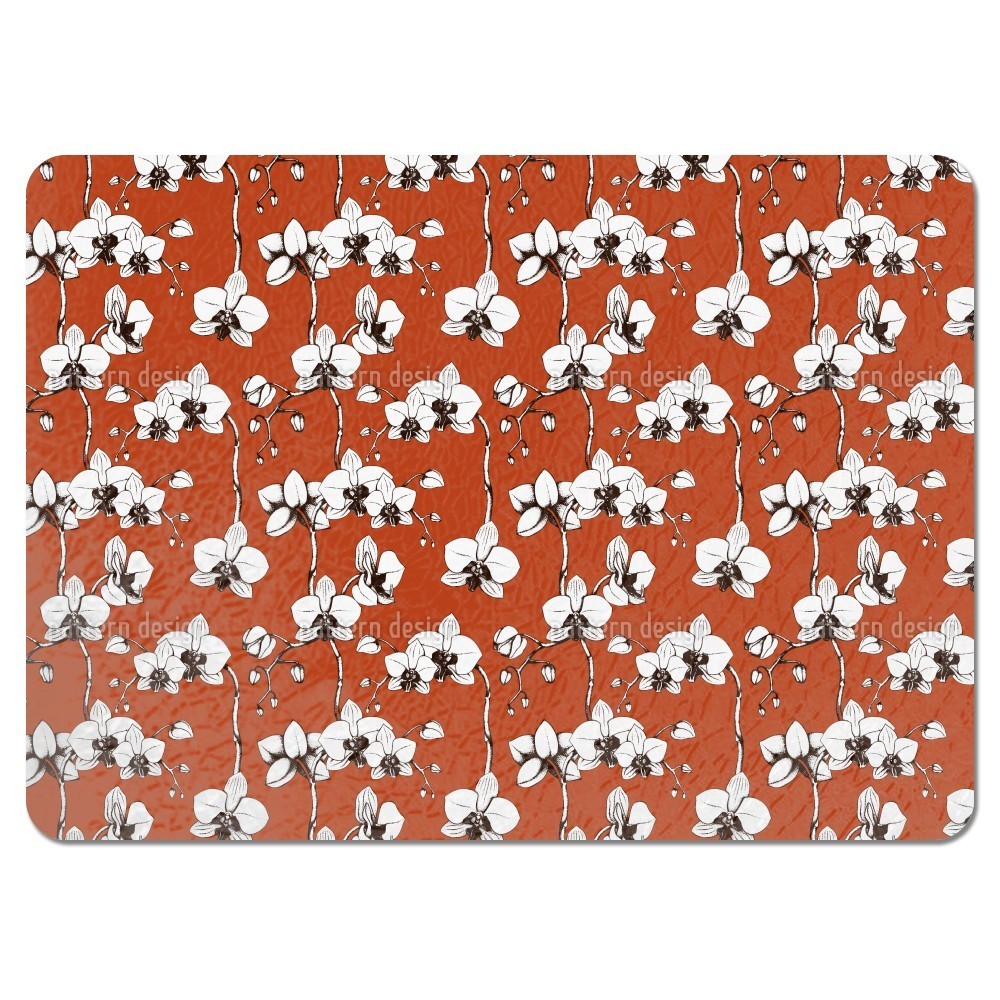 Uneekee Blood Orchid Placemats (Set of 4) (Blood Orchid P...