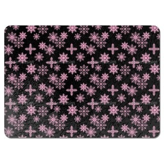 Ice Crystals Black Placemats (Set of 4)