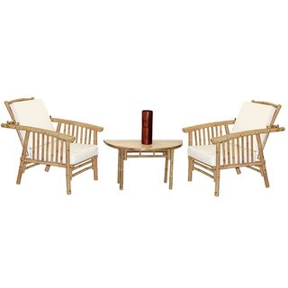Handmade 4 Piece Mikong Chairs and Semi Round Table Set (Vietnam)