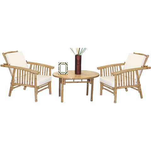 Handmade 5 Piece Mikong Chairs and Oval Table Set (Vietnam)