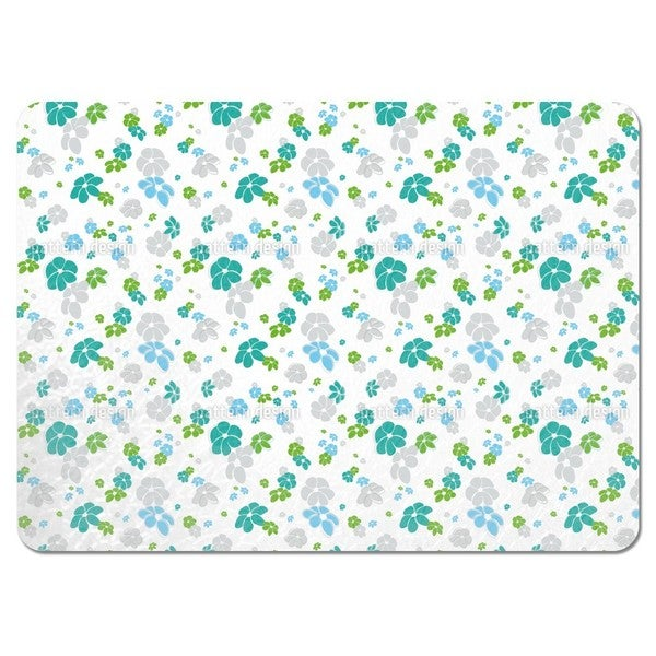 White Flower Rain Placemats (Set of 4)
