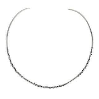 Tribal Floral Thai Karen Fine Silver Choker Necklace (Thailand)
