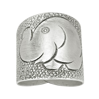 Elephant Smile Thai Karen Hill Tribe Wrap Fine Silver Ring (Thailand)