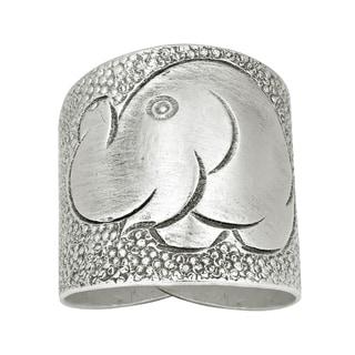 Handmade Elephant Smile Thai Karen Hill Tribe Wrap Fine Silver Ring (Thailand)