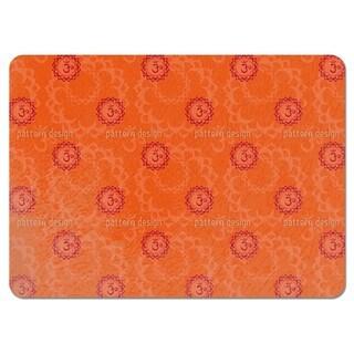 Orange Om Placemats (Set of 4)