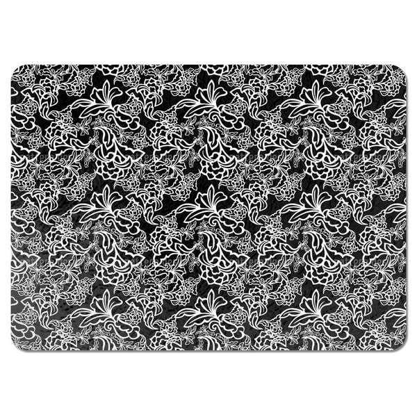 Tendrillars Black And White Placemats Set Of 4