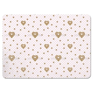 Gingerbread Checkmate Hearts Placemats (Set of 4)