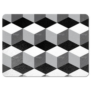 Cube on Black Placemats (Set of 4)
