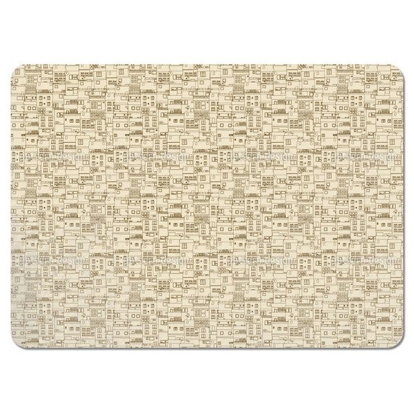 Small Part of Town Monochrome Placemats (Set of 4)