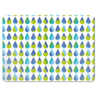 Colorful Extra Large Rain Drops Placemats (Set of 4)
