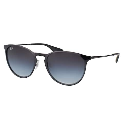 Ray-Ban RB 3539 002/8G Erika Black Metal Round Sunglasses With Grey Gradient Lenses
