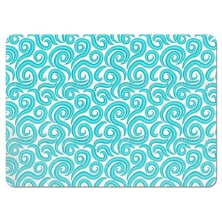 Aqua Curls Placemats (Set of 4)