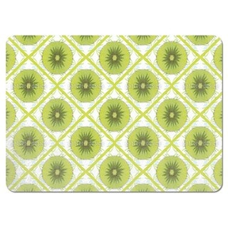 Floral Kiwi Check Placemats (Set of 4)