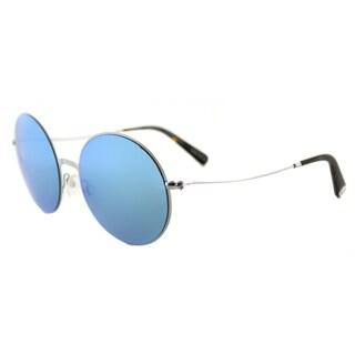 Michael Kors MK 5017 100125 Kendal II Silver Metal Round Teal Mirror Lens Sunglasses