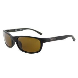 Ray-Ban RJ 9056 7012/3 Matte Black Plastic Brown Lens Children's Sport Sunglasses