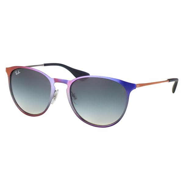 af21edc0a4 Ray-Ban RB 3539 195 11 Erika Metal Shot Violet Metallic Metal Round  Sunglasses