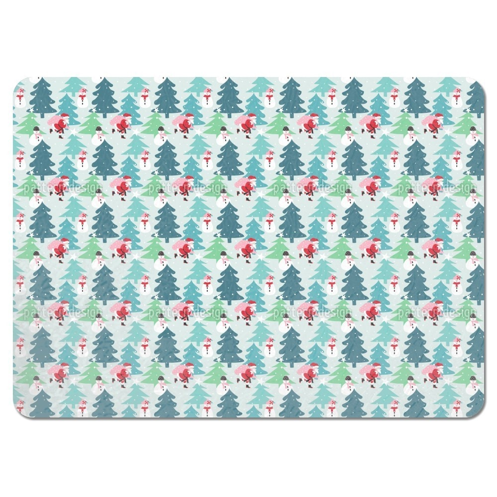 Uneekee Busy Santa Claus Placemats (Set of 4) (Busy Santa...
