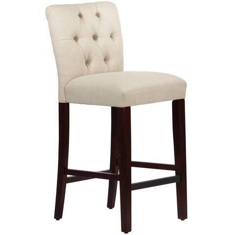 Skyline Furniture Tufted Bar stool in Linen Talc